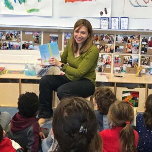 Reading to preschool class in Brooklyn. Maggie had a lot of fun reading to this group of wonderful children