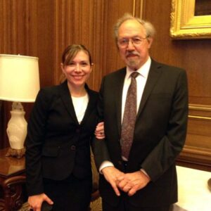 Maggie and her Dad, Don, in Washington DC for a special visit to the Supreme Court. It was so exciting to meet the justices (including RBG before her passing). A very special memory