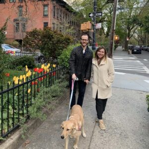 Beautiful stroll with our Dog Margene in Brooklyn