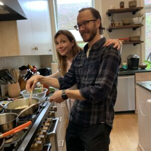 We love cooking together